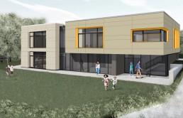 Kindertagesstätte St. Bernward Konzept-Rendering außen
